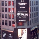 Anthony Kearns and Eric Stern featured on New York's Times Square billboard after Dec. 2009 performance