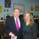 With Mike Huckabee after interview with First Lady Michelle Obama on FOX News Network Feb. 2010