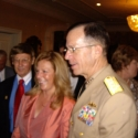 Kirsten with Admiral Mike Mullen after speaking engagement in Arlington, VA