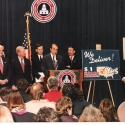 GOP Governors with Sen. Majority Leader Bob Dole and Speaker Newt Gingrich at victory news conference in 1994