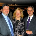 Kirsten, Ben Jenkins (right) and Frank Coleman of DISCUS cohosted 2009 Holiday Party on Capitol Hill featuring Anthony Kearns