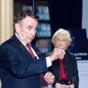 Sec. Tommy Thompson and Lesley Stahl at 2008 Bipartisan Health Care Forum in Minneapolis, MN